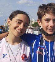 Valentina Grannò e Lorenzo Pistonesi felici dopo le doppie vittorie