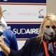 Samb-Gubbio, Paolo Montero con l'addetto stampa Federica Rogato
