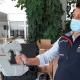Un vaporizzatore dell'igienizzante anti-Covid-19 acquistato dall'istituto Fazzini-Mercantini