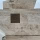 Monumento a monsignor Sciocchetti, pulito dalle scritte 25 novembre 2020