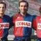 Samb anni Novanta, da sinistra Ottavio Palladini, Moreno Solfrini e Beppe Manari