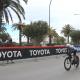 Ciclista in gara alla Tirreno Adriatico. 16 marzo 2021