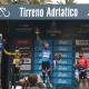 Il podio della Tirreno Adriatico a San Benedetto. 16 marzo 2021