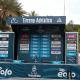 Podio della Tirreno Adriatico in attesa dei vincitori. 16 marzo 2021