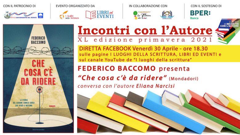 Lo scrittore Federico Baccomo presenta