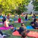 la lezione di yoga