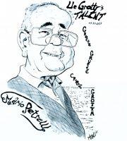 """Una caricatura di Mario Petrelli realizzata da Emanuele Califano Lidak nel 2017 in occasione del premio """"Lle Grotte's Talent"""""""