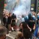 Cori ultras contro Pasqualino Piunti in Piazza Giorgini a San Benedetto